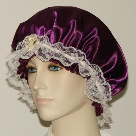 Eggplant Satin Hair Bonnet