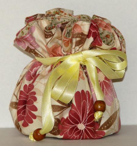 Oriental Floral Jewelry Pouch Organizer