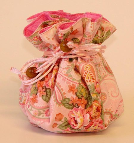 Pink Paisley Floral Jewelry Pouch Organizer