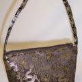 Brown Brocade Silk Handbag