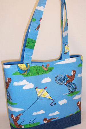 George Plays Kite Print Tote Bag