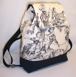 Covington Toile Black Backpack