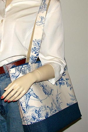 Covington Blue Toile Tote Bag