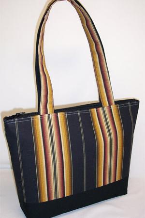 Multi Dark Striped Print Bag