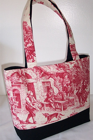Garden Party Toile Tote Bag