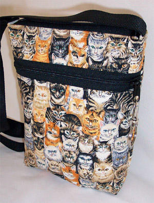 Halloween Kitties Print Drawstring Purse