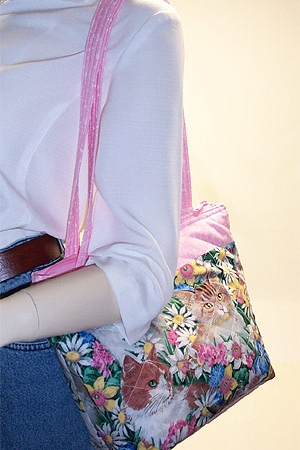 Kitty Cat Floral Bag