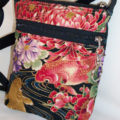 Floral Koi Fish Drawstring Purse