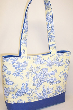 Blue Yellow Covington Toile Bag