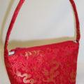 Red Brocade Silk Handbag