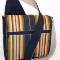 Dark Stripes Messenger Bag