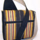 Dark Stripes Messenger Bag
