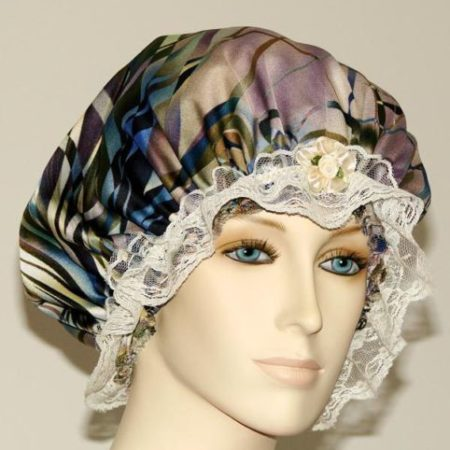 Abstract Marble Bonnet for Short Hair