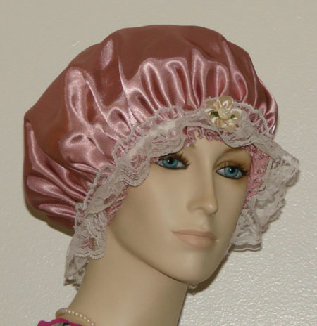 Dusty Rose Satin Hair Bonnet