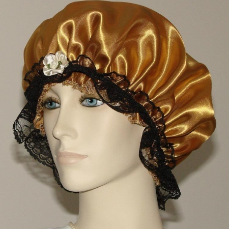 Gold Satin Hair Bonnet
