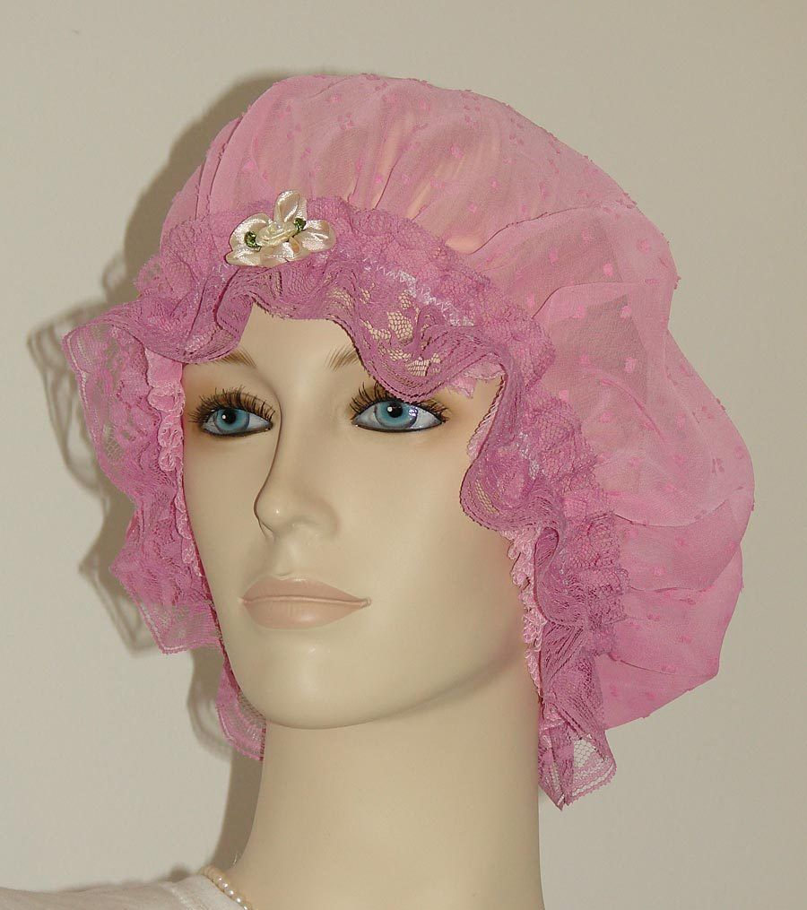 Gradient Pink Sheer Hair Bonnet Pauljulia Designs
