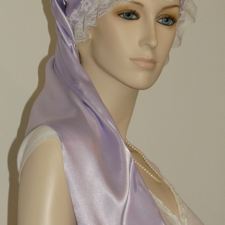 Lavender Long Hair Bonnet