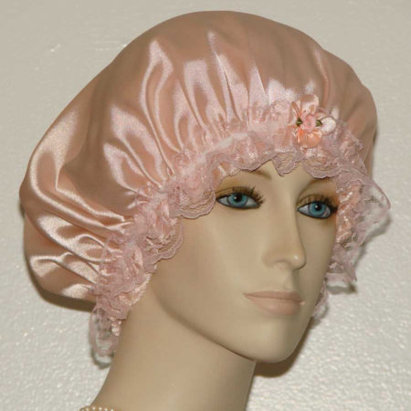 Light Peach Satin Hair Bonnet
