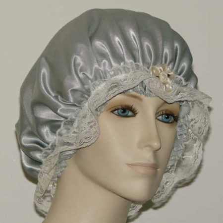 Light Sage Satin Bonnet