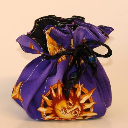 Sun Star Moon Purple Jewelry Pouch Organizer