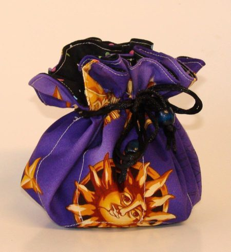 Sun Star Moon Purple Jewelry Pouch Organizer