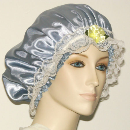 Silver Grey Satin Hair Bonnet