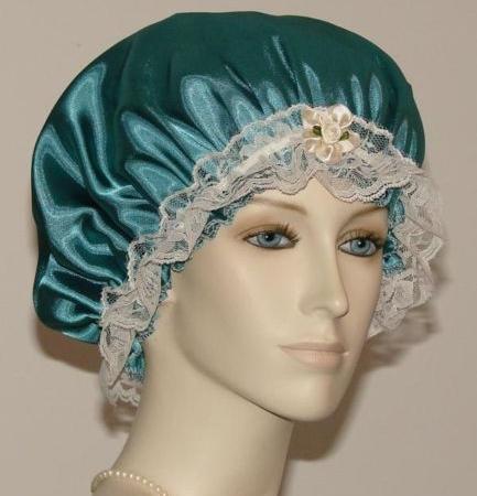 Spruce Green Satin Hair Bonnet