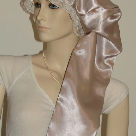 Taupe Long Hair Bonnet