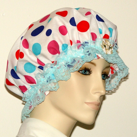 Polka Dots Cotton Hair Bonnet