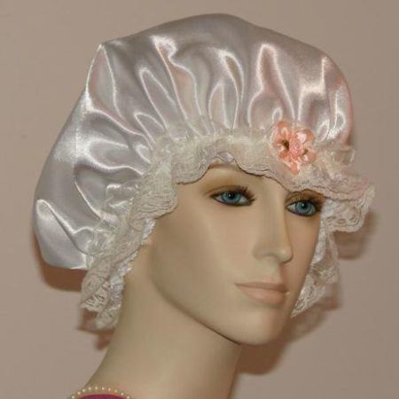 White Satin Hair Bonnet