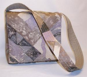 Abstract Print Messenger Bag