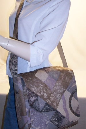 Abstract Print Messenger Bag