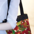 Autumn Color Leaves Print Quilted Purse