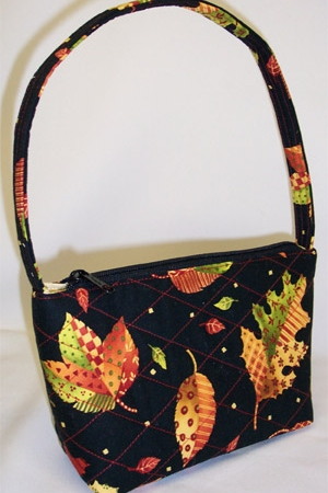 Autumn Leaves Print Handbag