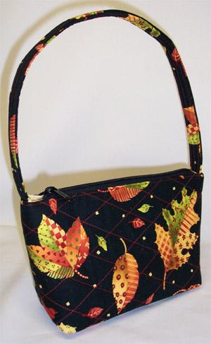 Autumn Leaves Print Handbag