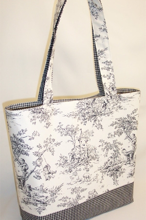 Central Park Toile Black Tote Bag