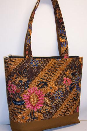 Batik Print Tote Bag