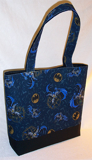 Bag made from Batman print fabric