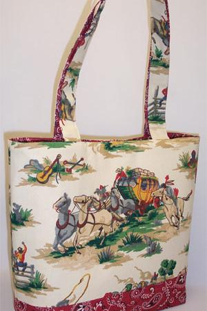 Wild West Cowboy Print Bag