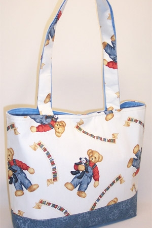 Blue Jean Teddy Purse