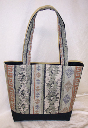 Abstract Brown Print Tote Bag