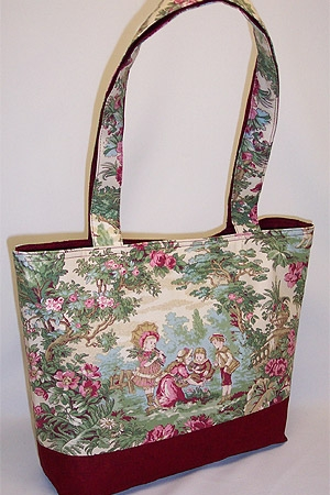 Garden Picnic Print Toile Bag