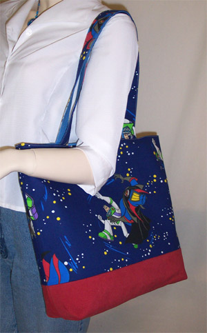 Bag made with buzlightyear fabric