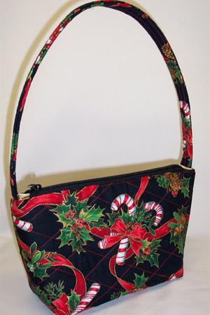 Candy Cane Holidays Print Handbag