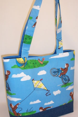 George Plays Kite Print Tote Bag
