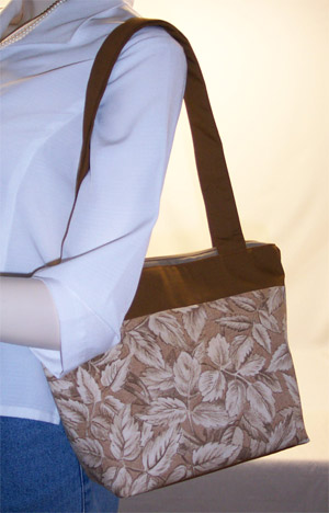Fall Colored Leaves Zippered Purse