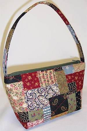 Country Patchwork Print Handbag