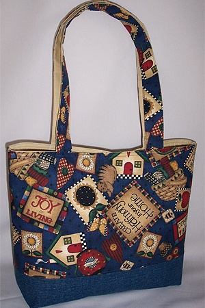 Country Living Print Tote Bag