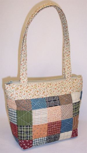 Country Patchwork Quilted Purse