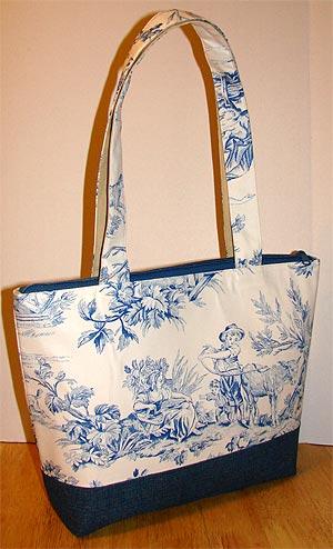 Covington Blue Toile Tote Bag